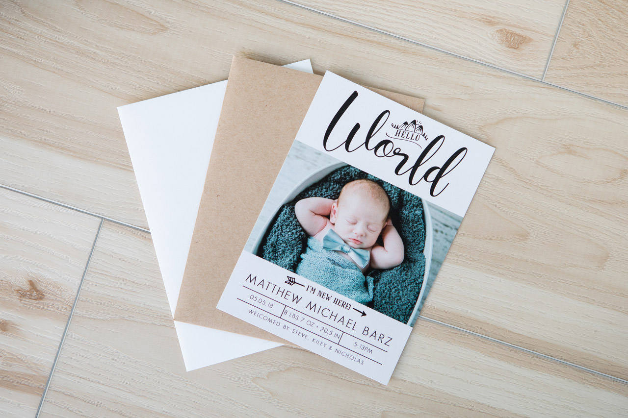 Cards Birth Announcement